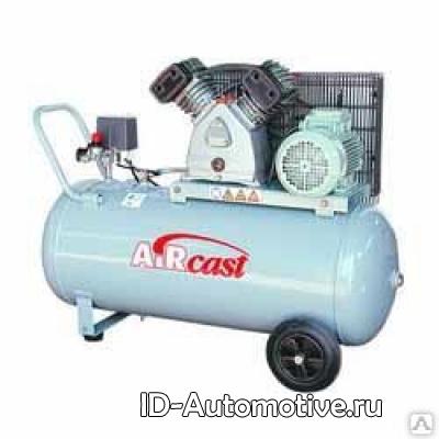 Компрессор с горизонтальным расположением ресиверa Aircast CБ4/C-50.LB40