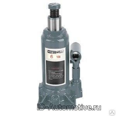 Домкрат бутылочный KraftWell KRWBJ6 г/п 6000 кг.