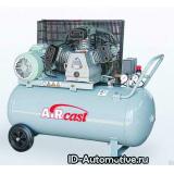 Компрессор с горизонтальным расположением ресиверa Aircast CБ4/C-100.LB40