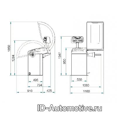Балансировочный стенд полуавтоматический GP3.124RD