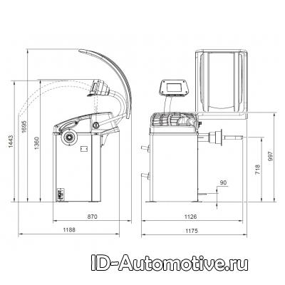 Балансировочный стенд полуавтоматический GP3.128R