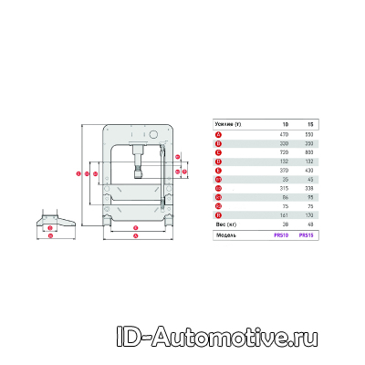 Пресс 15 т настольный с ручным приводом PRS15_grey