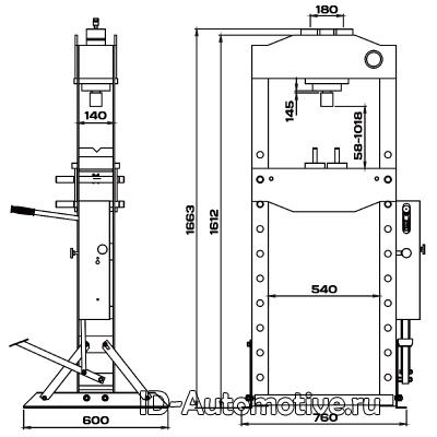 Пресс 20 т с ручным и ножным приводом RHP20F