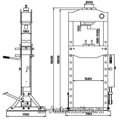 Пресс 30 т с ручным и ножным приводом RHP30F