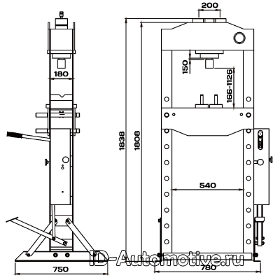 Пресс 30 т с ручным и пневматическим приводом RHP30A