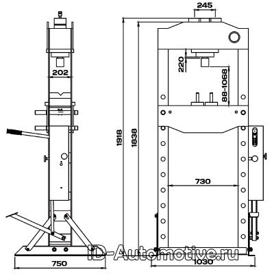 Пресс 50 т с ручным и ножным приводом RHP50F