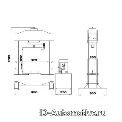 Пресс 100 т c электрогидравлическим приводом RHP100E