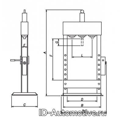 Пресс гидравлический настольный Werther PR15B/PM (OMA652B) 15 т