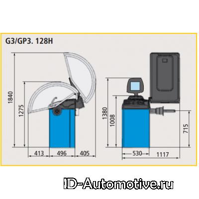 Балансировочный стенд полуавтоматический G3.128H