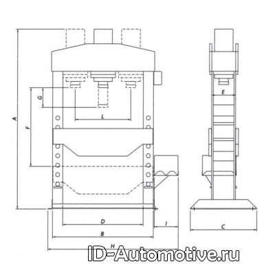 Пресс электрогидравлический Werther PRM100PM (OMA666B) 100 т