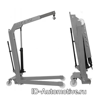 Кран гидравлический W107 (OMA589) серый, складной, г/п 500 кг