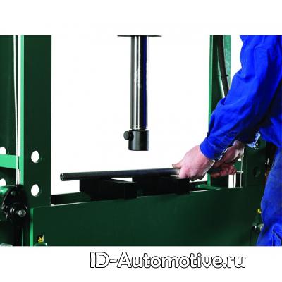 Пресс гидравлический напольный HP100 100 т, ручной и пневмо привод