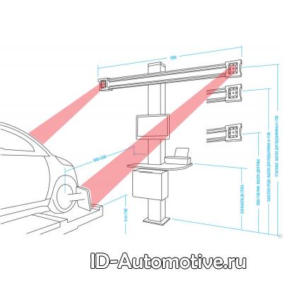 Стенд сход-развал с двумя камерами HPA C800 3D