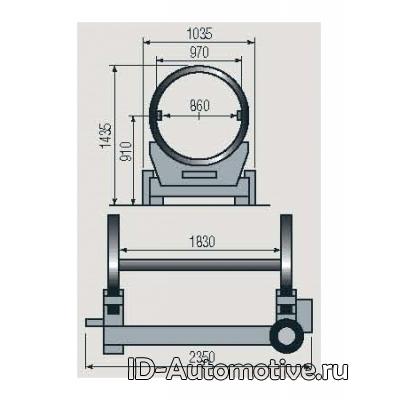 Стенд для разбора двигателей г/п 2000 кг R15