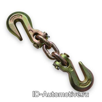 Соединитель цепей с двумя крюками
