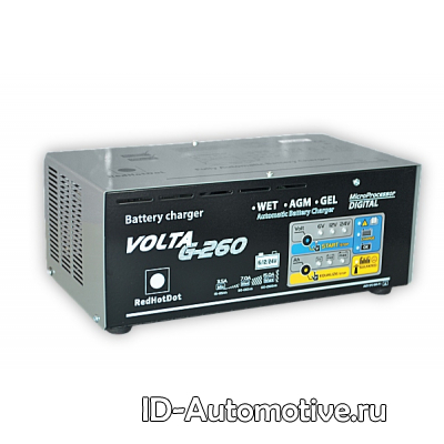 Устройство зарядное микропроцессорное VOLTA G-260 (6-12-24В)