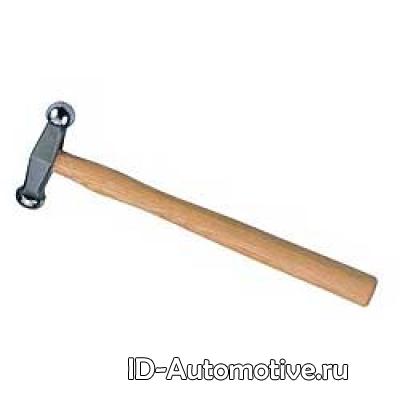 Рихтовочный молоток с 2-мя симметричными закругленными головками, длина головки 100mm, D101780