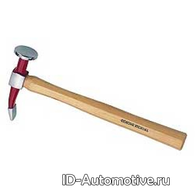 Рихтовочный молоток с круглой головкой и изогнутым, узким бойком, длина головки 135mm, D101783