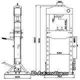 Пресс 20 т с ручным и пневматическим приводом RHP20A