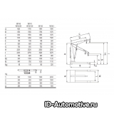 Кран гидравлический Werther W141 (OMA574), нескладной, г/п 1000 кг