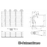 Кран гидравлический W108LP (OMA590B) г/п 1000 кг
