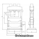 Пресс электрогидравлический Werther PRM100 (OMA 666) 100 т, красный