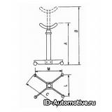 Стойка трансмиссионная Werther W110 (OMA606) серая, г/п 1000 кг
