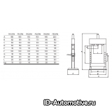Пресс гидравлический напольный Werther PR20/PM (OMA654B) 20 т, серый