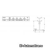 Стойка трансмиссионная гидравлическая TJ300, г/п 300 кг