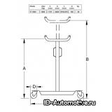 Стойка трансмиссионная гидравлическая TJ1000, г/п 1000 кг