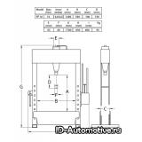 Пресс гидравлический напольный FP16 16 т, ножной привод
