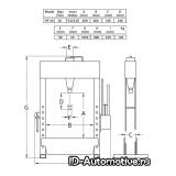 Гидравлический пресс HP20 напольный 20 т, с ручным и пневмо приводом