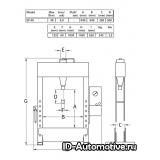Пресс электрогидравлический EP60 60 т, с подвижным цилиндром