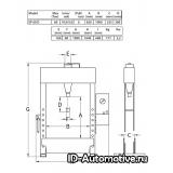 Пресс EP60D электрогидравлический 60 т
