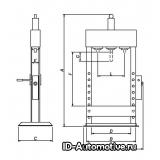 Напольный гидравлический пресс Werther PR25/PM (OMA 655B) 25 т