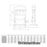 Пресс электрогидравлический Werther PRM160PM, 160 т с подвижным цилиндром