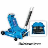 Домкрат подкатной гаражный, нагрузка 3т, 2 цилиндра, кардан, XRD0330