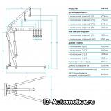 Кран гидравлический складной, г/п 1 т N3710